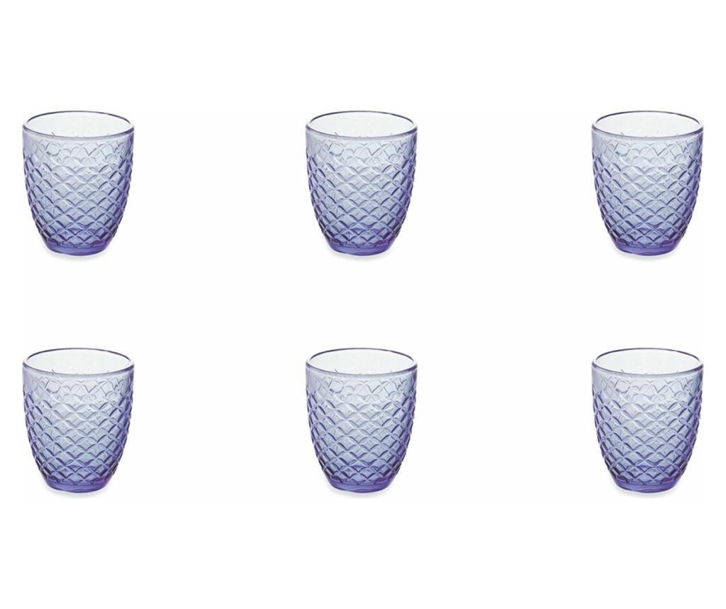 Zestaw 6 szklanek Spiga Blue 332 ml