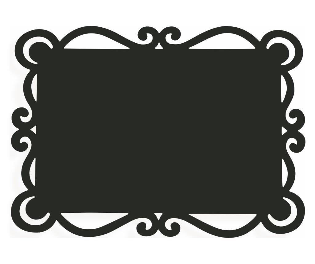 Set 6 suporturi pentru farfurii Dorian Black 32x44 cm