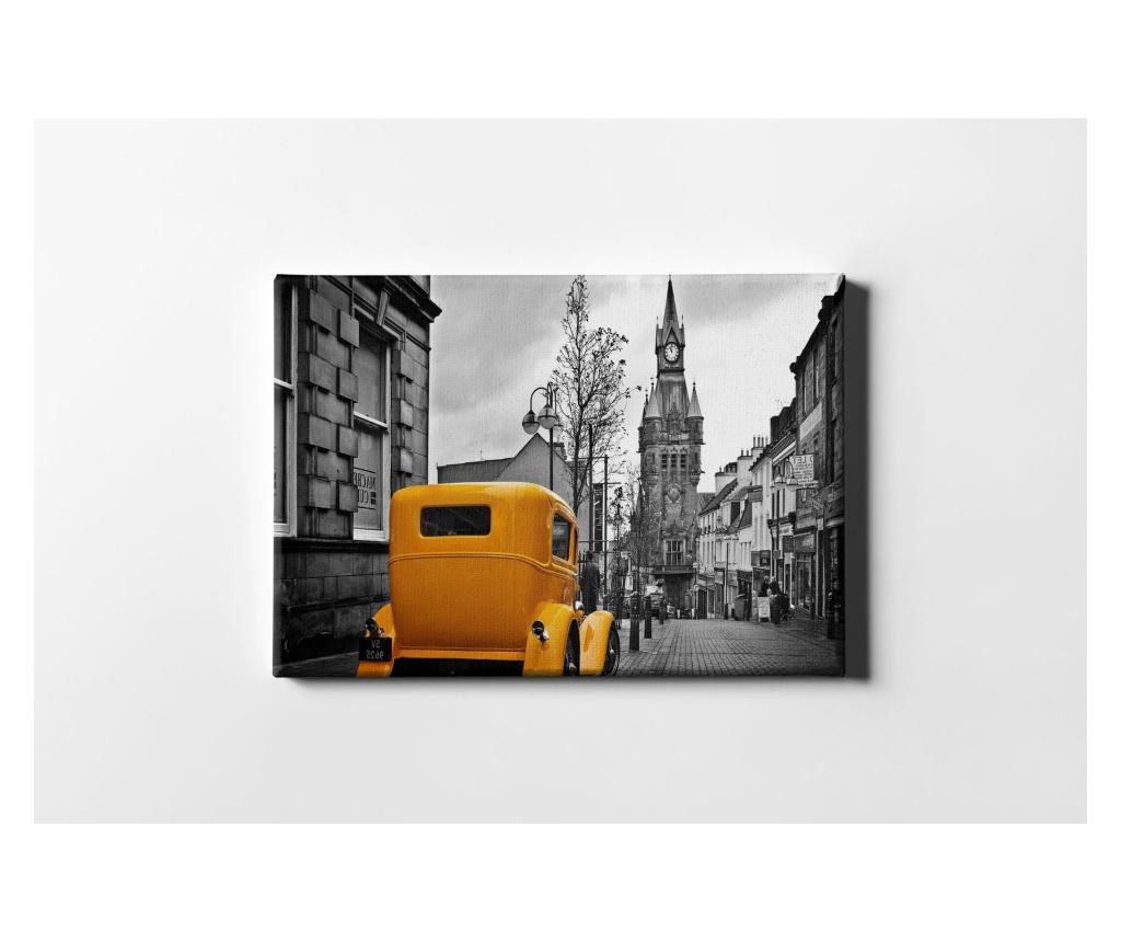 Tablou Orange Car 60x90 cm