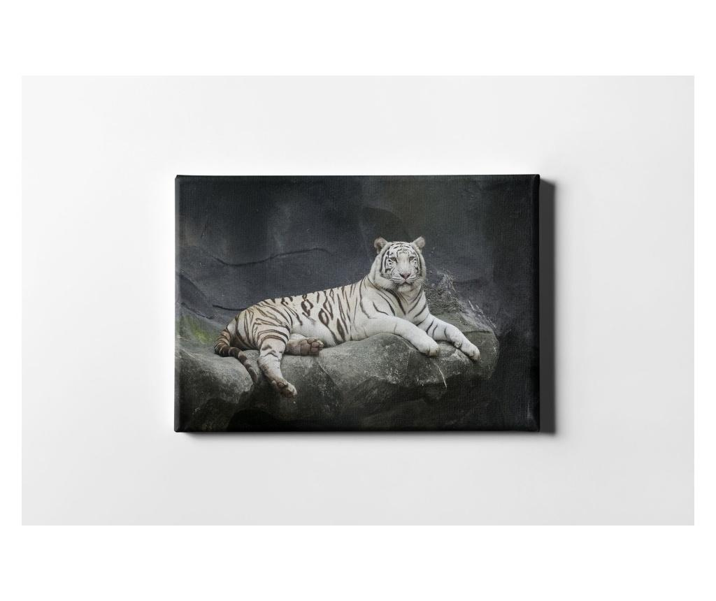 Tablou The White Tiger 50x70 cm