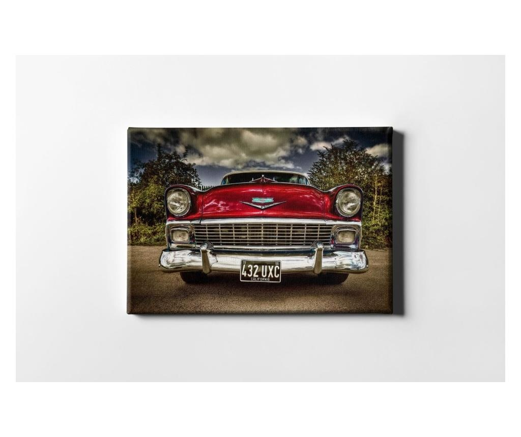 Tablou Red Classic Car 30x40 cm