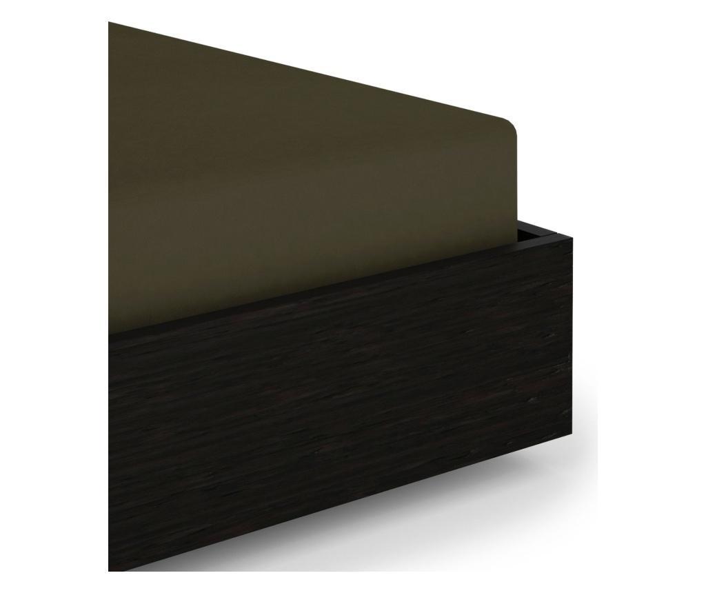 Plahta sa elastičnom gumicom Persey Burnt Olive 140x200 cm