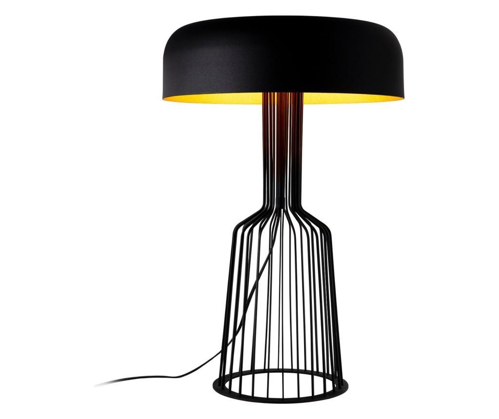 Stolna lampa Fellini Two Black Gold Round