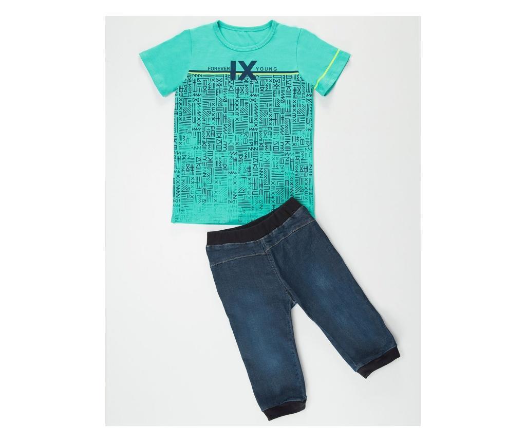 Set tricou si pantaloni pentru copii Forever Young 4 years