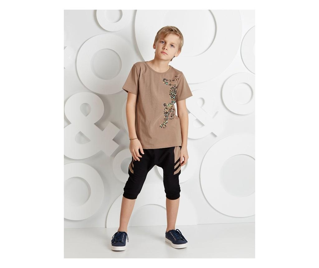 Set tricou si pantaloni copii Leopard 4 years