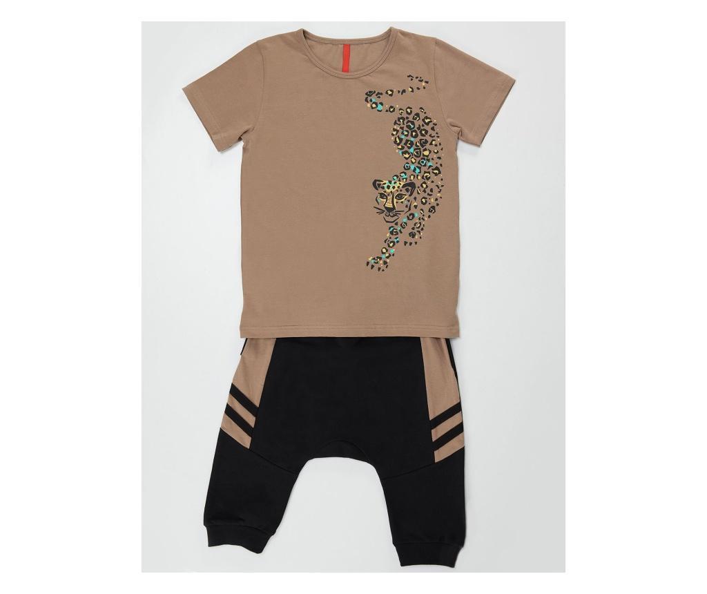 Set tricou si pantaloni copii Leopard 5 years