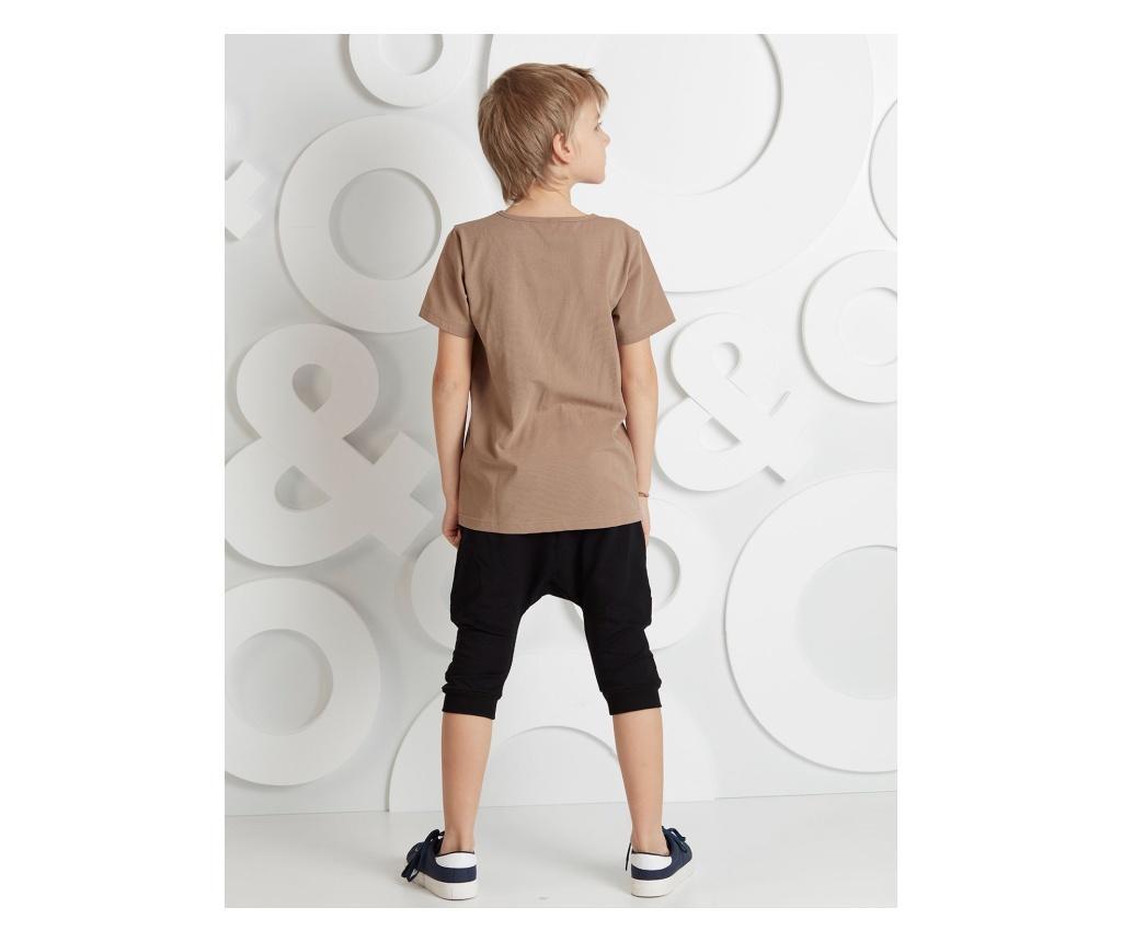 Set tricou si pantaloni copii Leopard 6 years