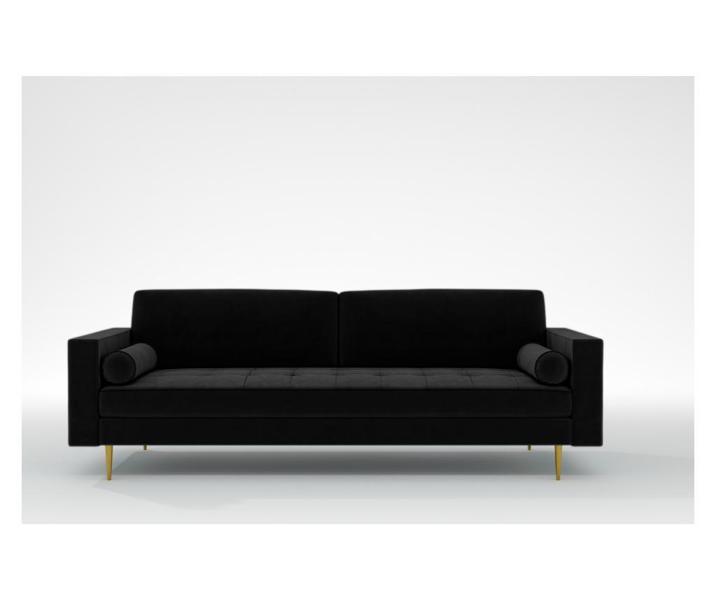 Grace Black Háromszemélyes kanapé