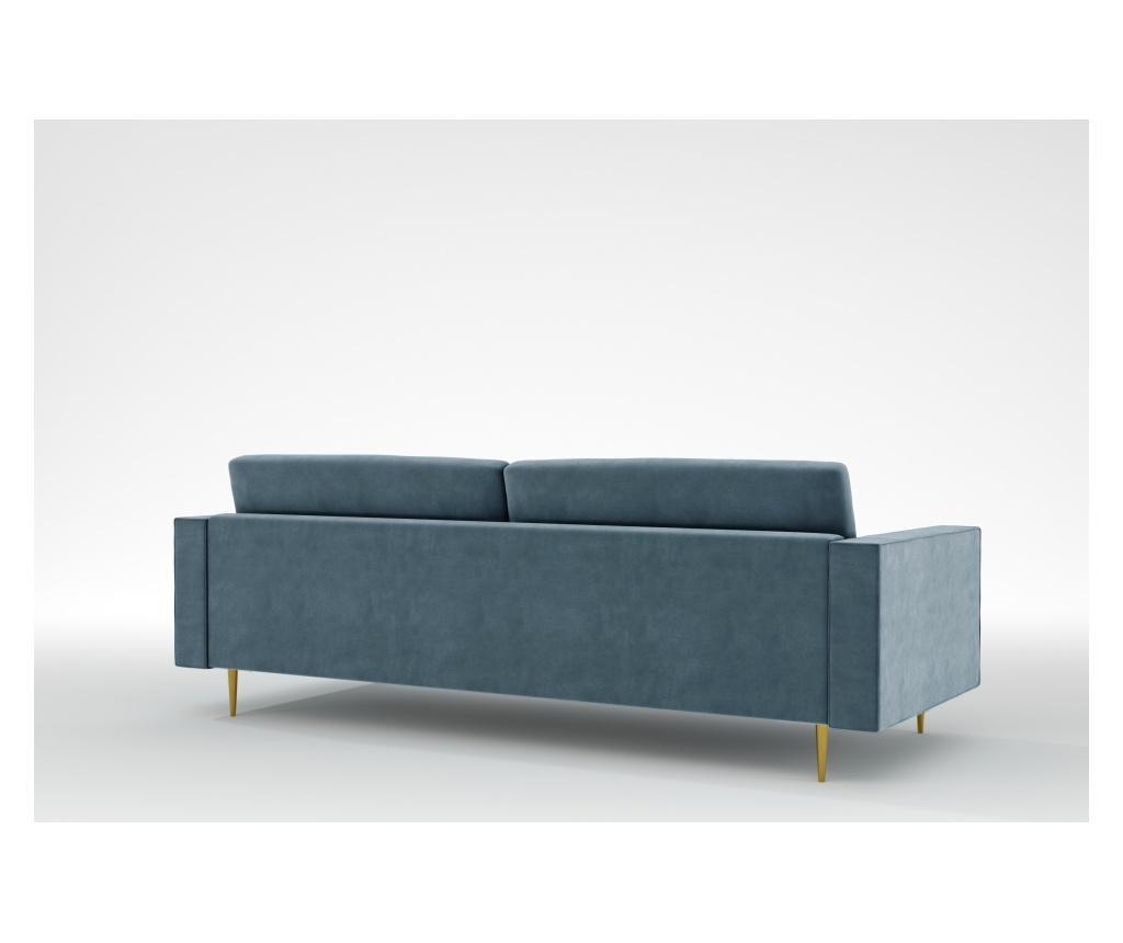 Grace Petrol Háromszemélyes kanapé