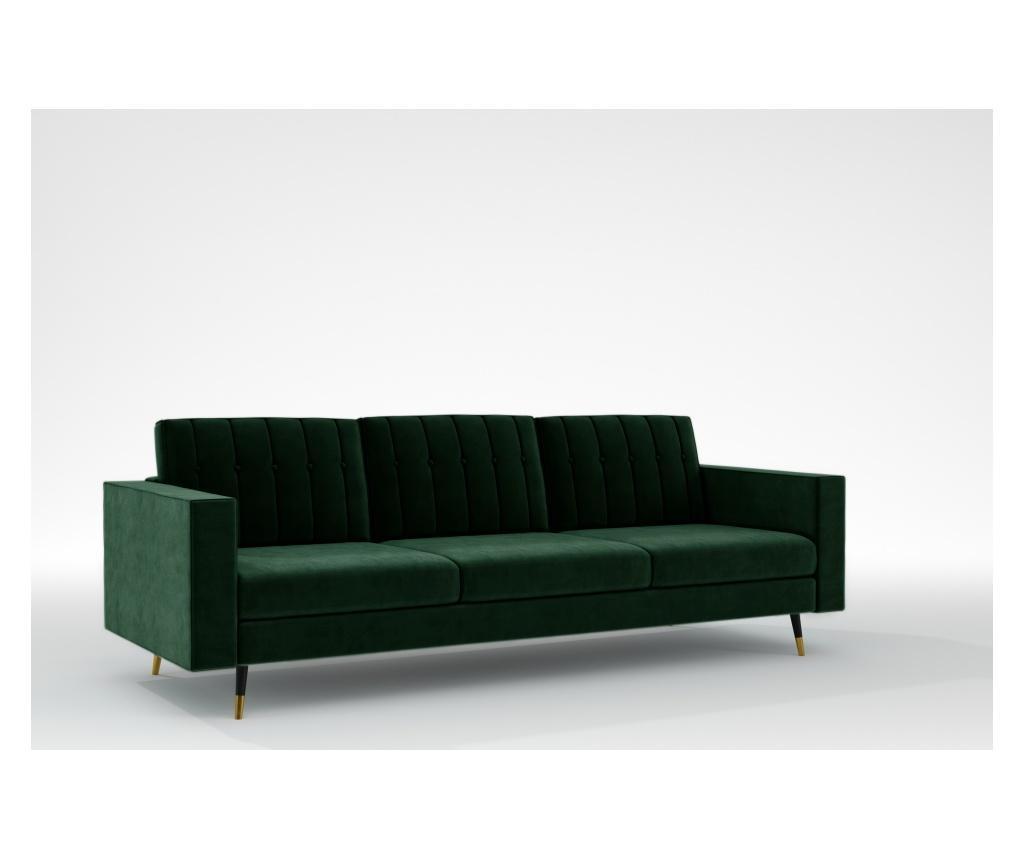 Elina Bottle Green Háromszemélyes kanapé