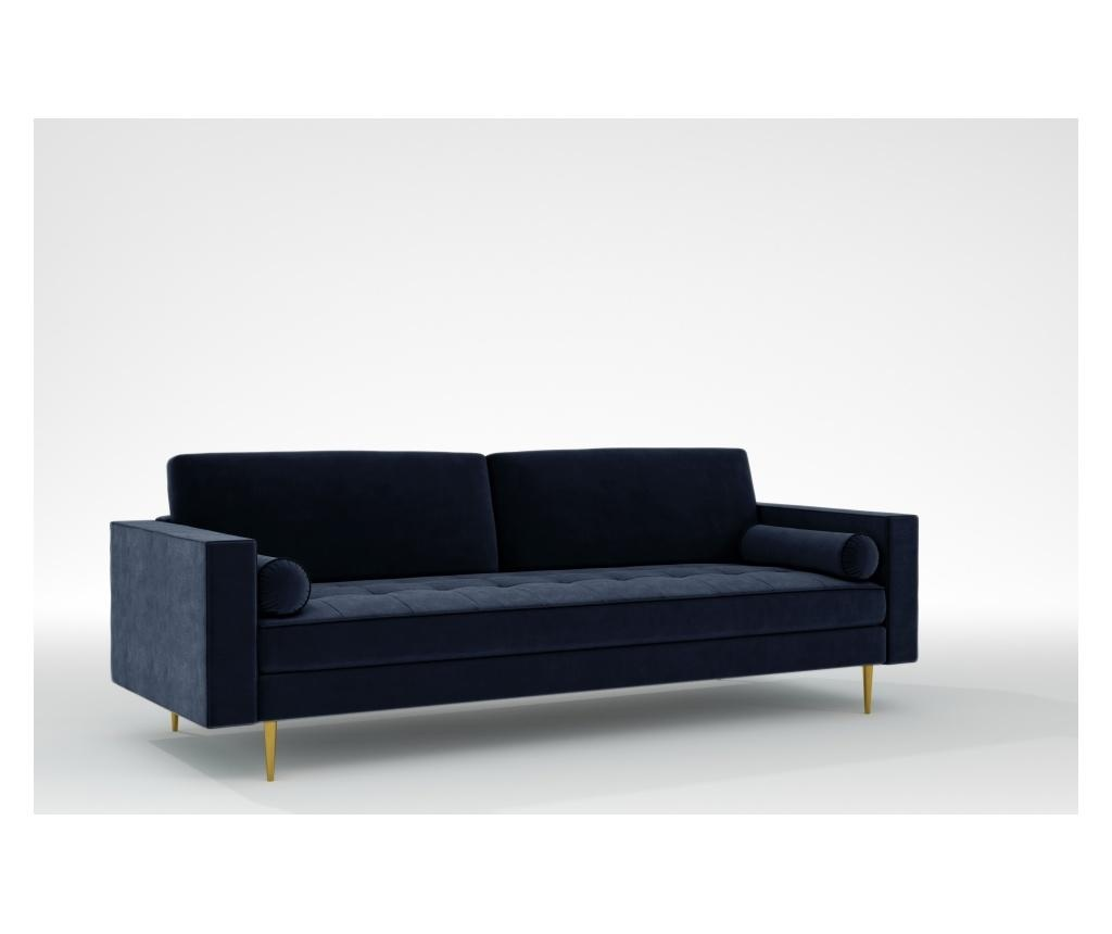 Grace Midnight Blue Háromszemélyes kanapé