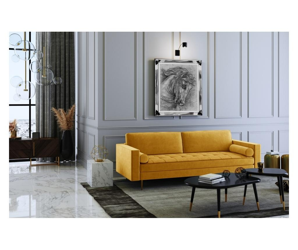 Grace Mustard Háromszemélyes kanapé