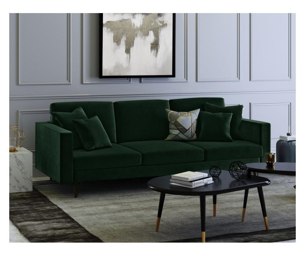 Virginia Bottle Green Háromszemélyes kanapé