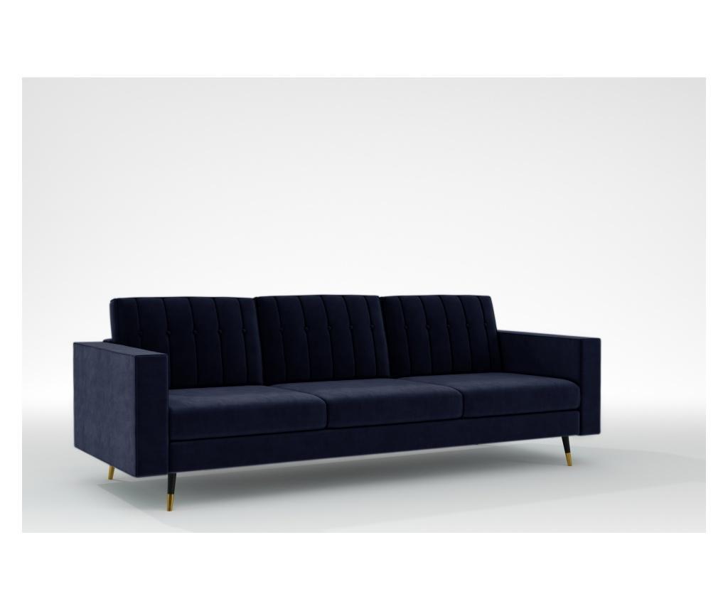 Elina Midnight Blue Háromszemélyes kanapé