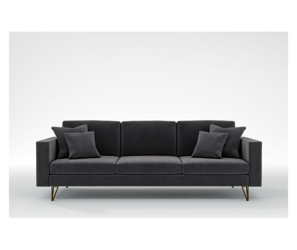 Virginia Manhattan Grey Háromszemélyes kanapé