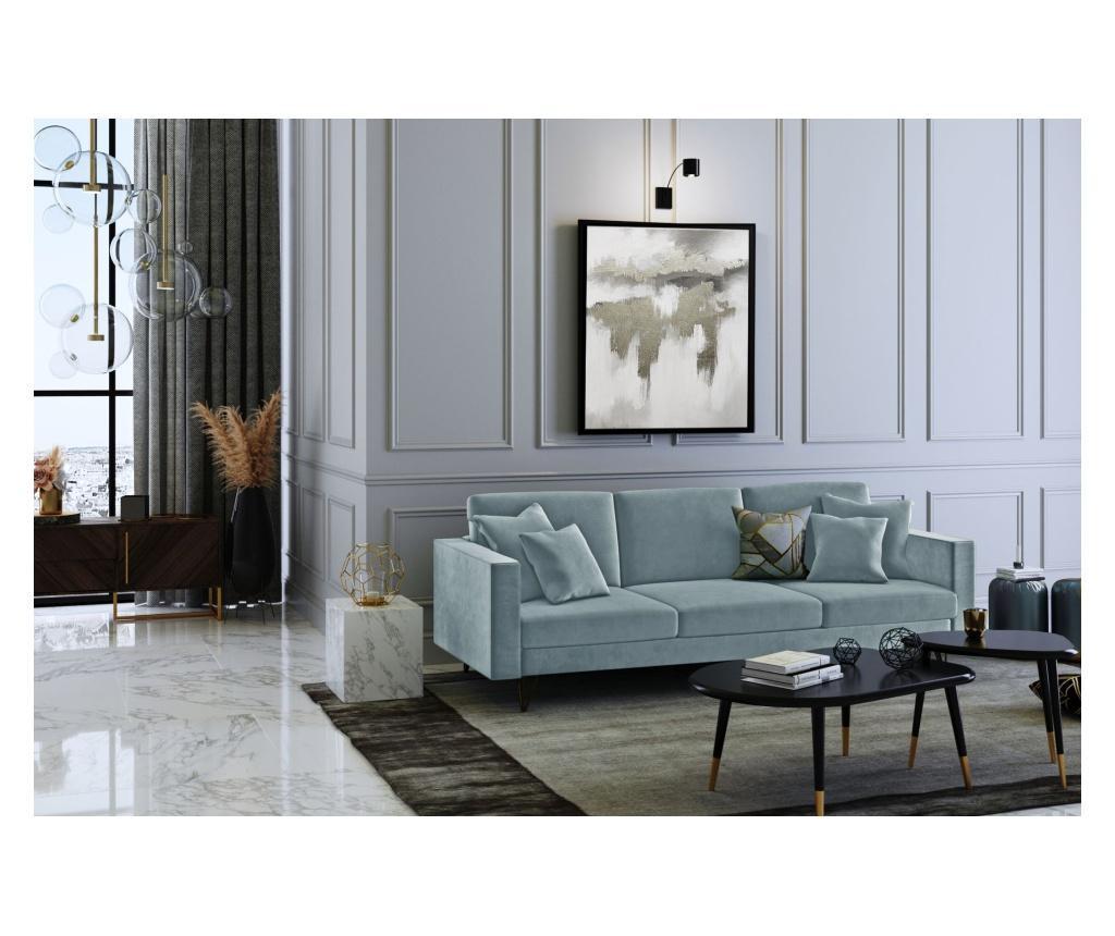 Virginia Blue Grey Háromszemélyes kanapé