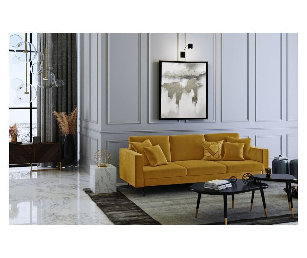 Virginia Mustard Háromszemélyes kanapé