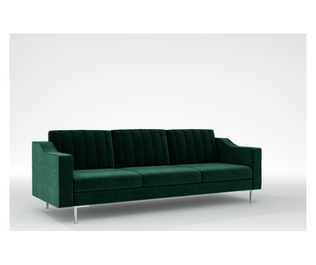 Julie Bottle Green Háromszemélyes kanapé