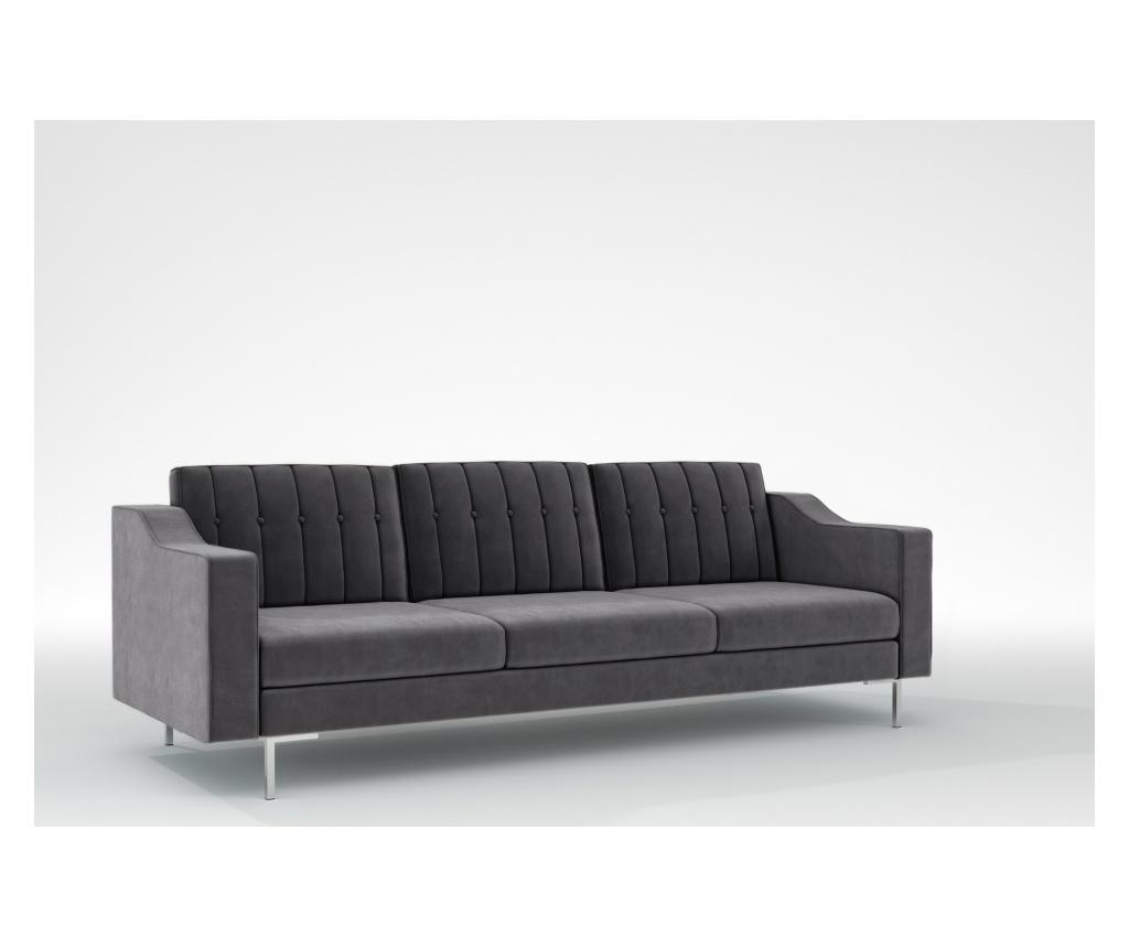 Julie Manhattan Grey Háromszemélyes kanapé