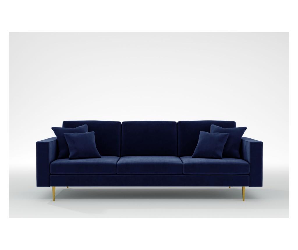 Virginia Galaxy Blue Háromszemélyes kanapé