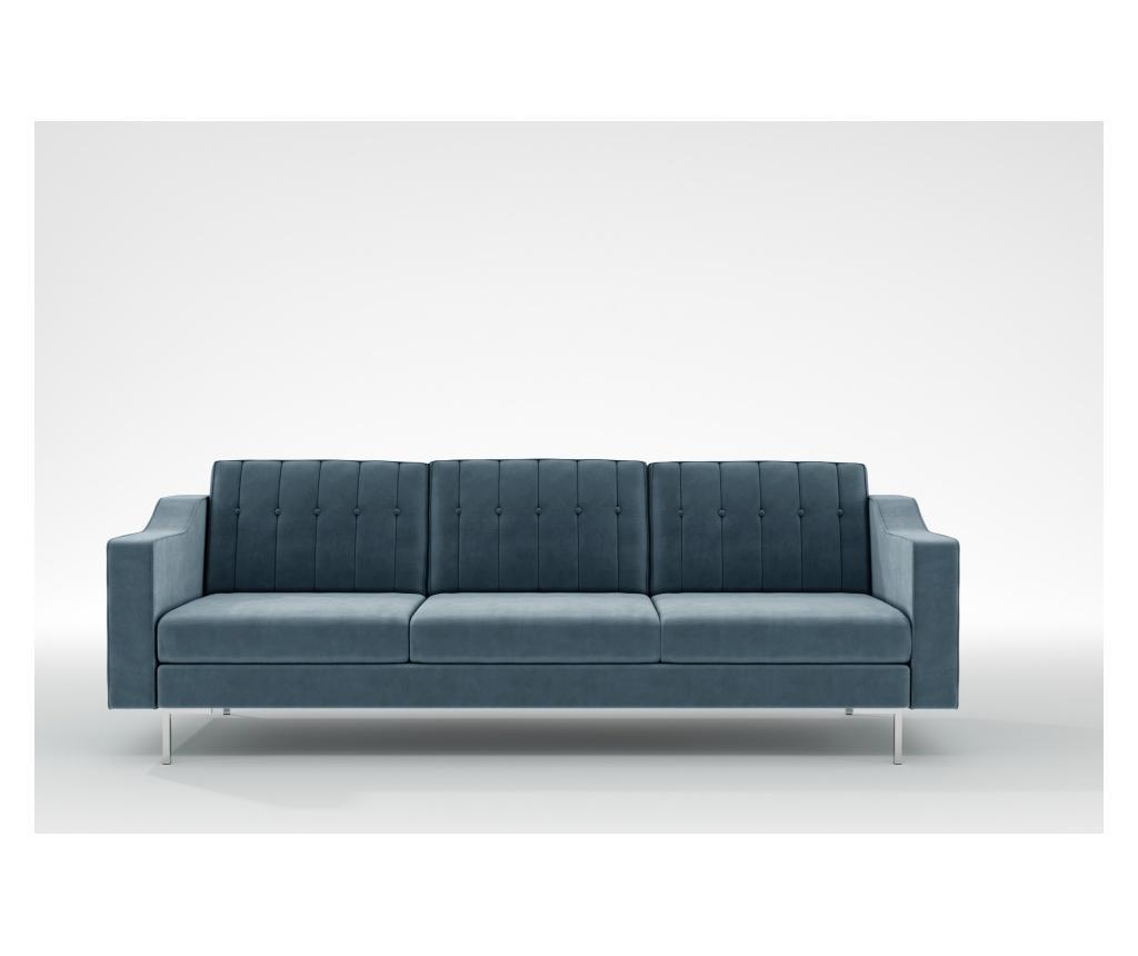 Julie Petrol Háromszemélyes kanapé
