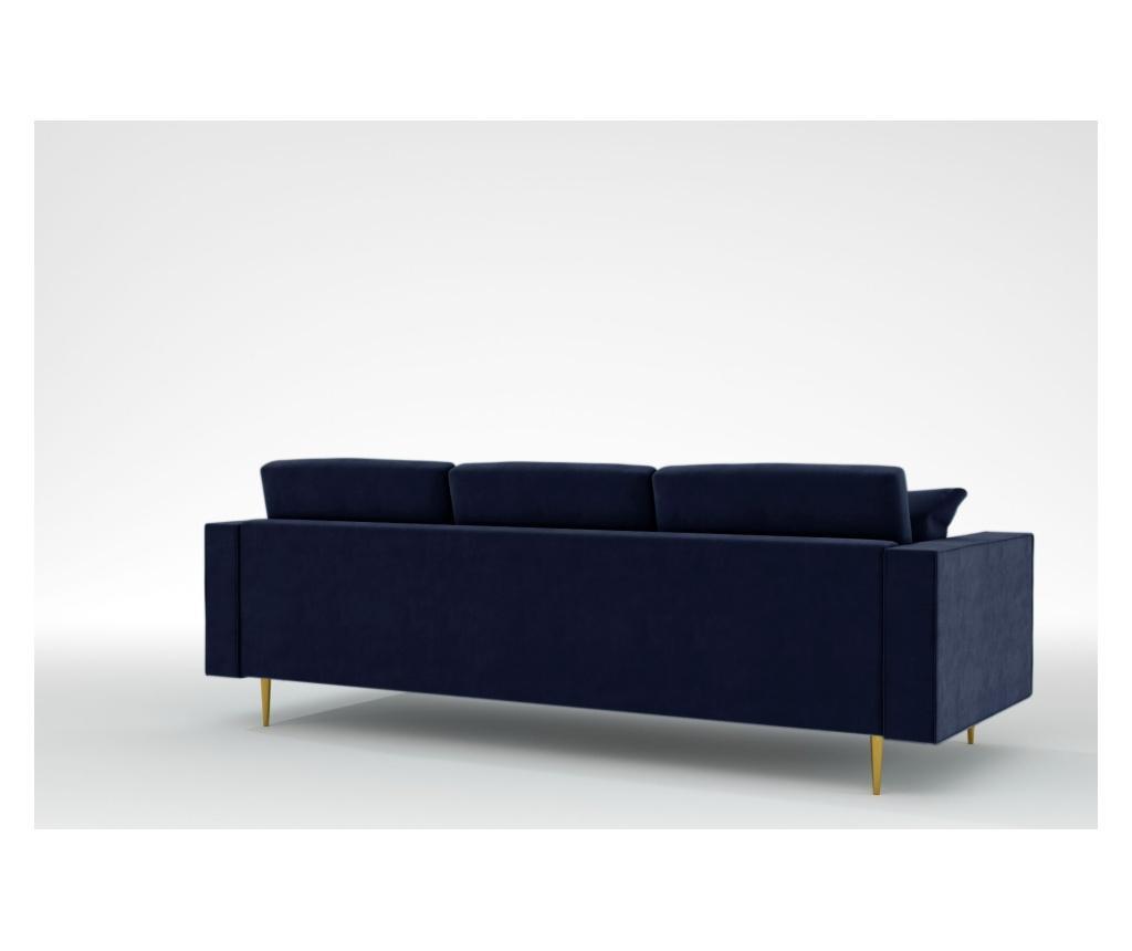 Virginia Midnight Blue Háromszemélyes kanapé