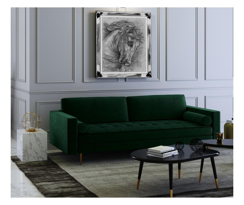 Grace Bottle Green Háromszemélyes kanapé