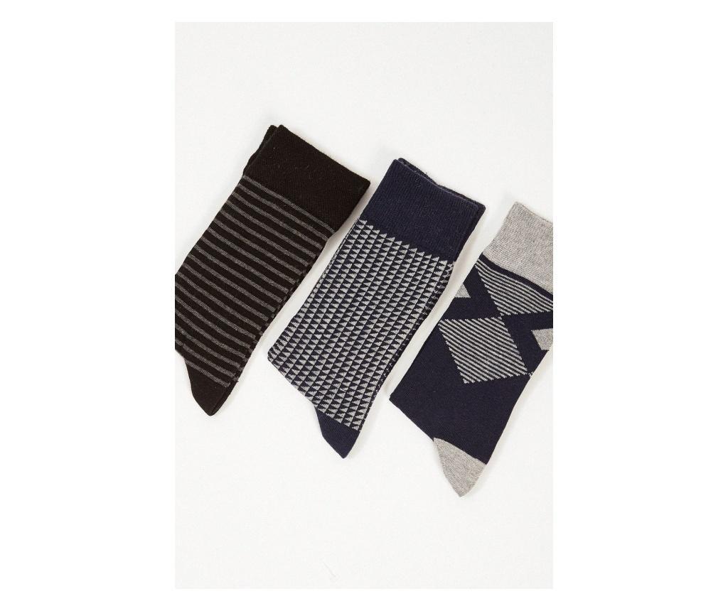 Slim 3 pár Férfi zokni one size
