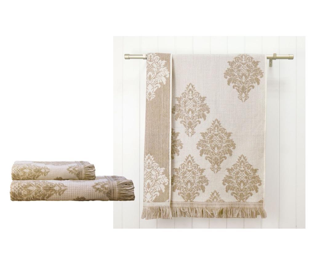 Versailles Beige 2 db Fürdőszobai törölköző