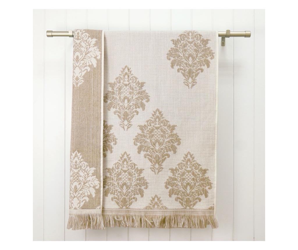 Zestaw 2 ręczników kąpielowych Versailles Beige 48x90 cm