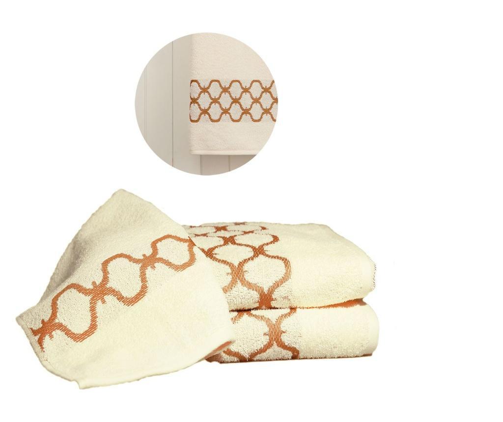 Zestaw 3 ręczników kąpielowych Tangier Cream & Caramel