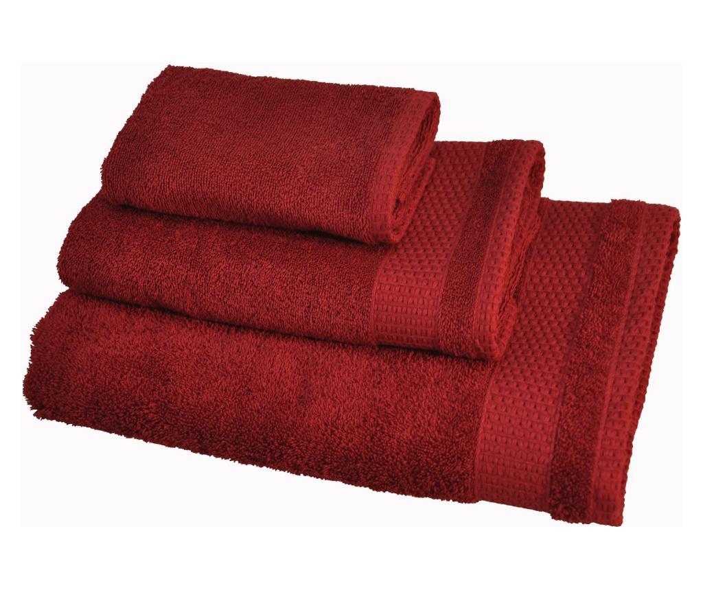 Zestaw 3 ręczników kąpielowych Madison Red