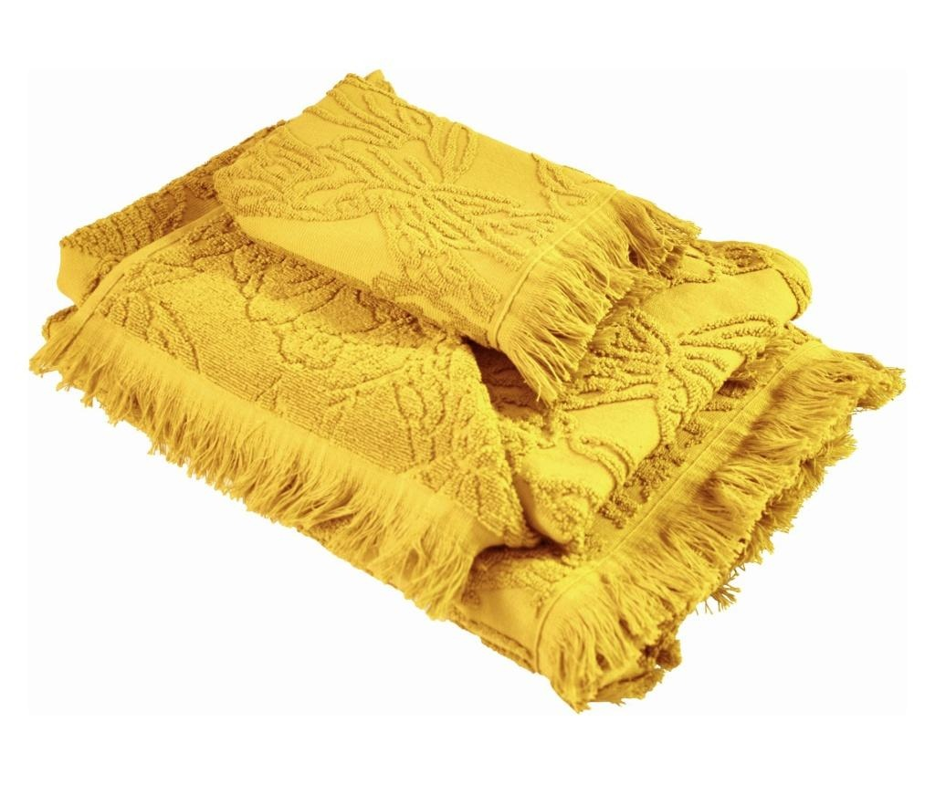 Zestaw 3 ręczników kąpielowych Blossom Yellow