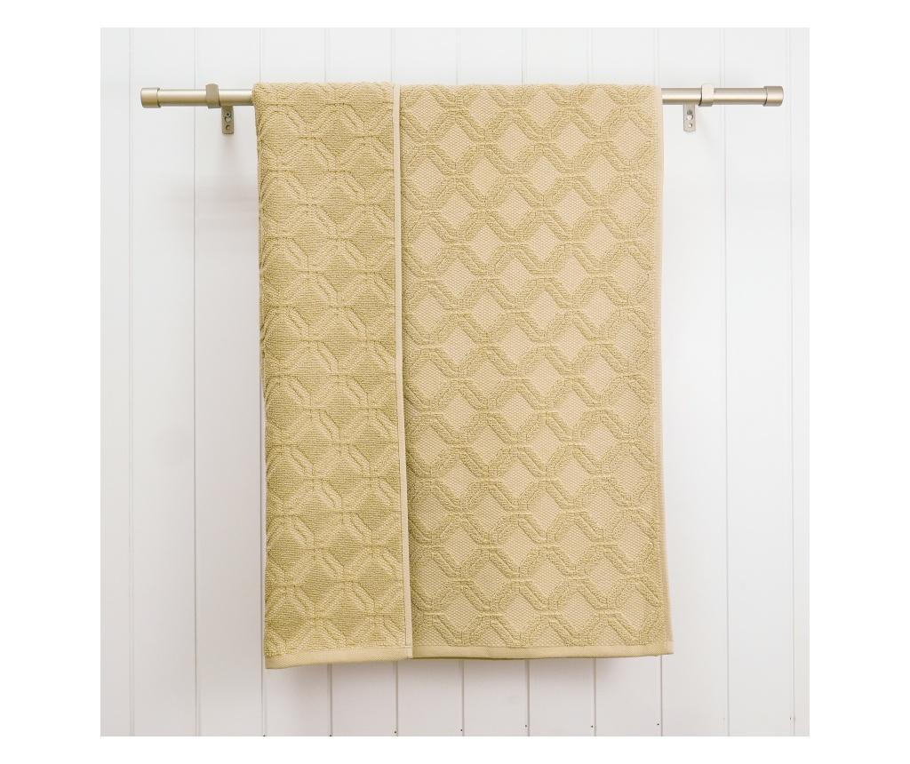Zestaw 2 ręczników kąpielowych Lattice Sand