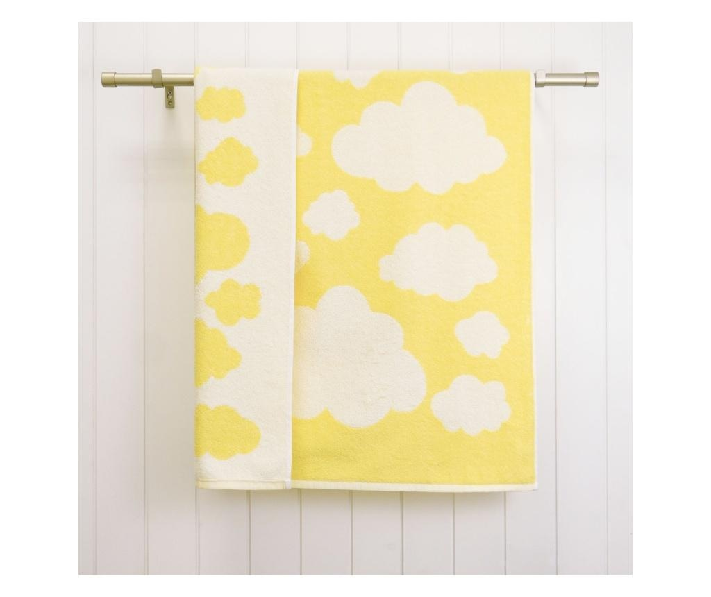 Prosop de baie Clouds Yellow 70x120 cm