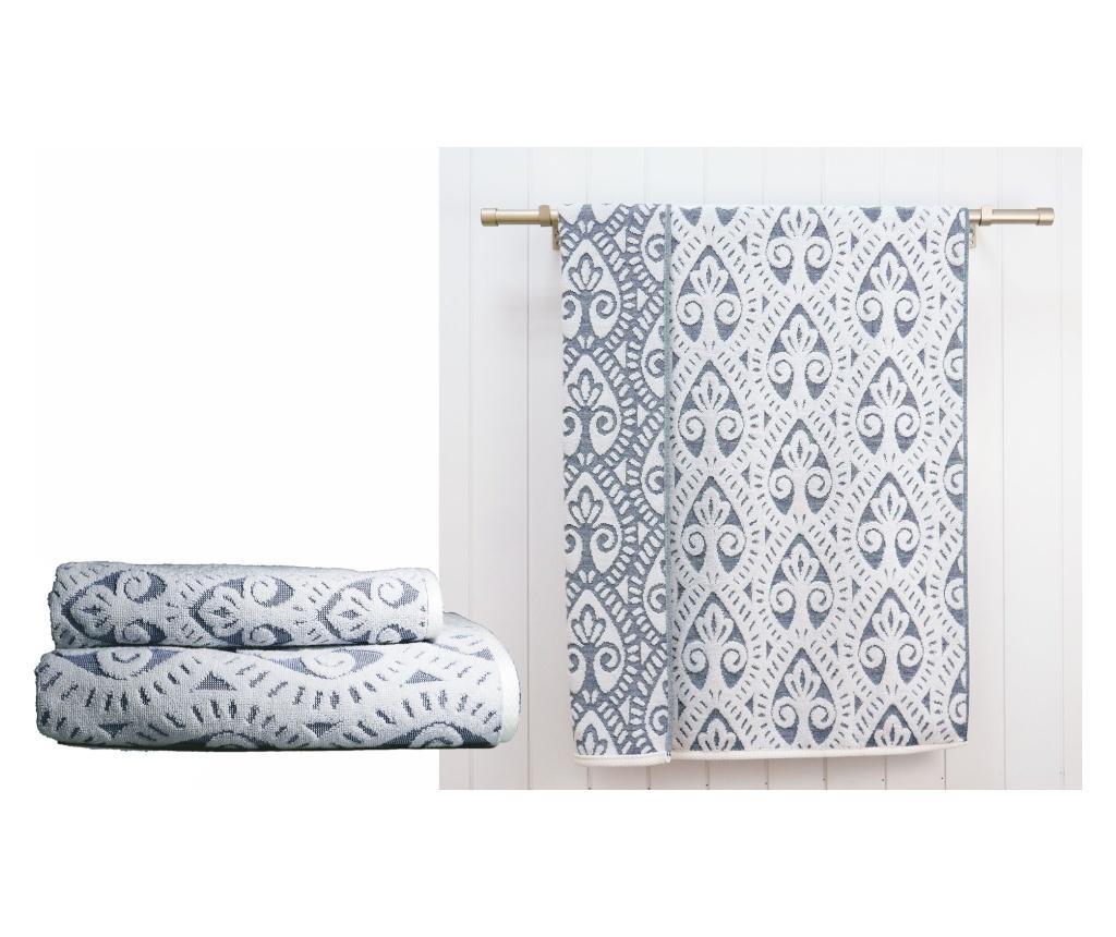 Zestaw 2 ręczników kąpielowych Santorini White Blue