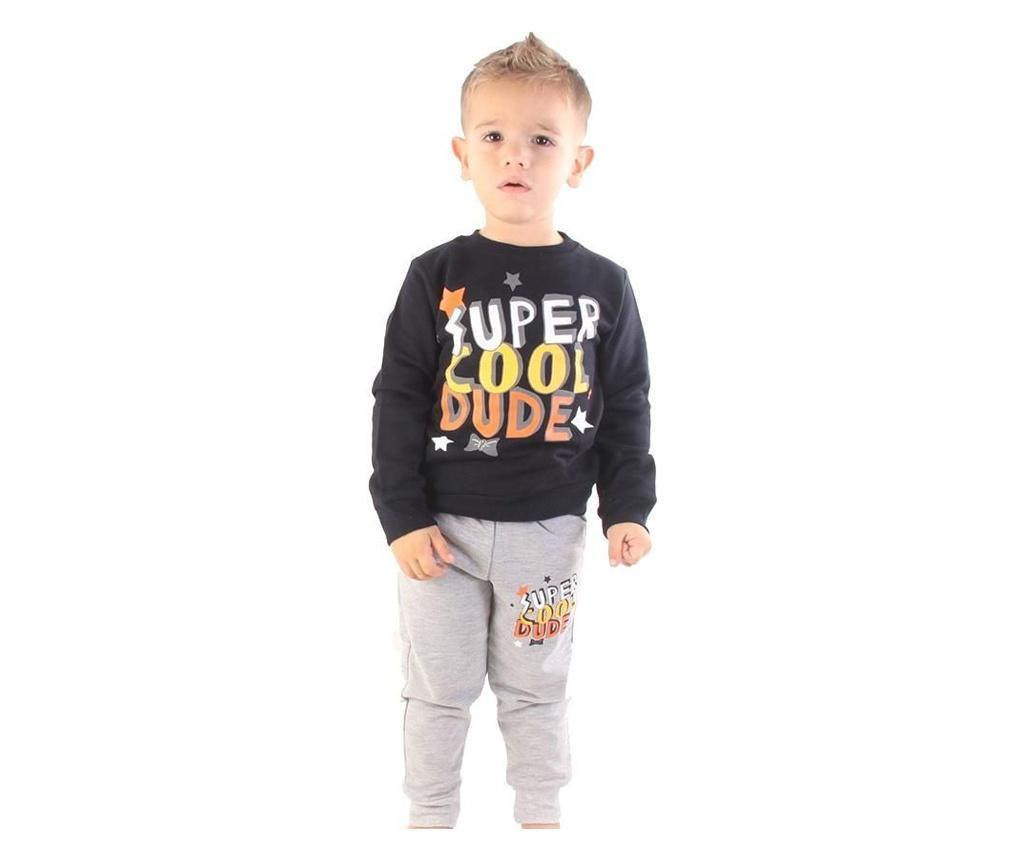 Pijama baieti Super Cool Dude 4 years