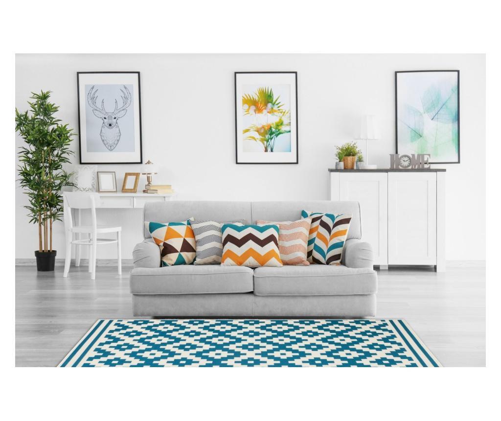 Covor Stella White Turquoise 200x290 cm