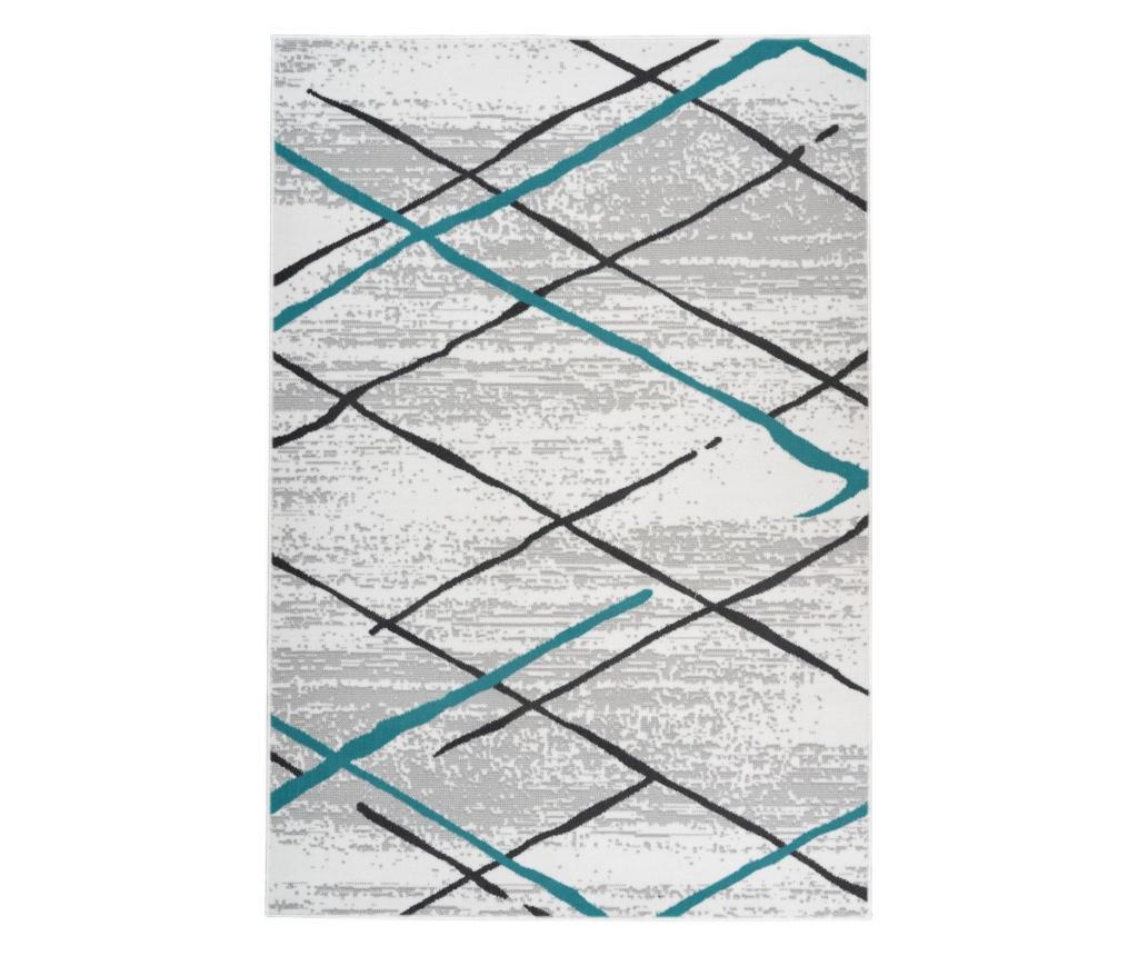 Covor Melange White Grey Turquoise 160x230 cm