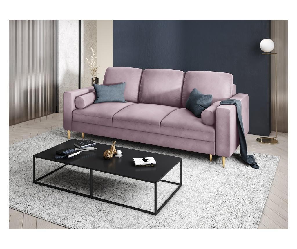 Rozkładana kanapa 3-osobowa Mimosa Pink