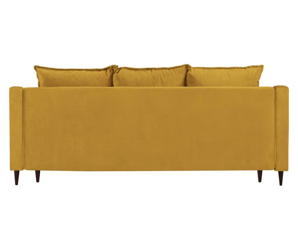 Rozkładana kanapa 3-osobowa Freesia Yellow