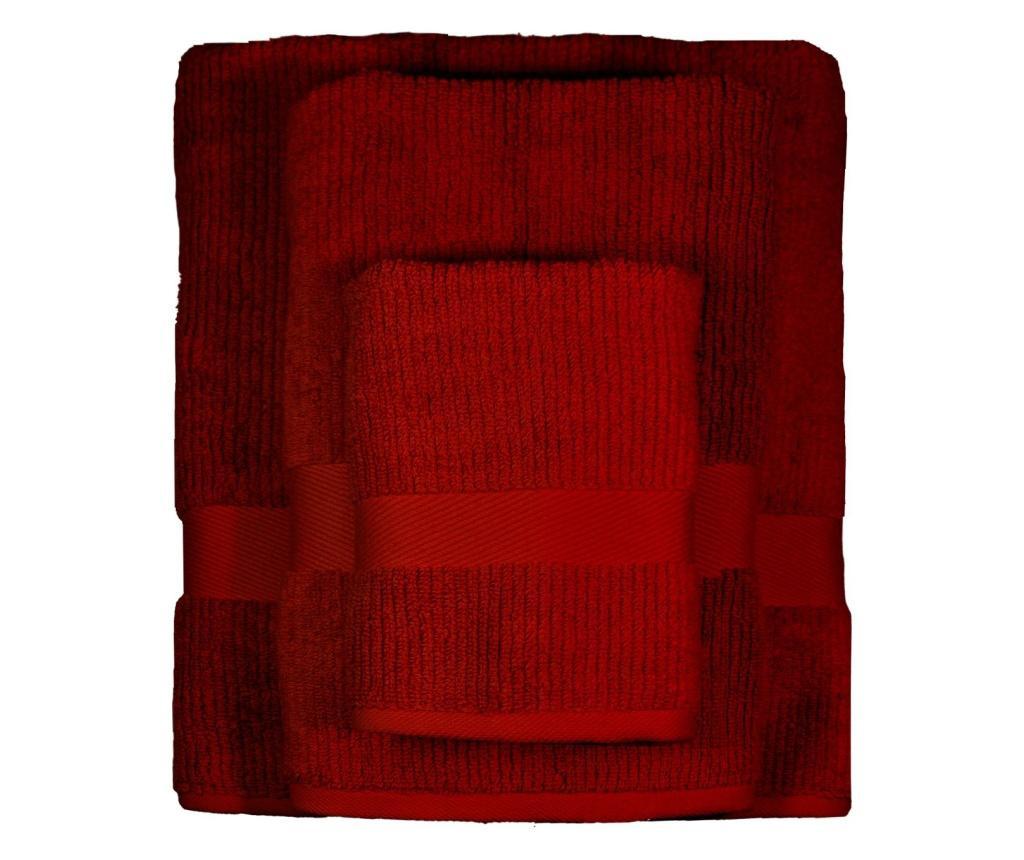 Prosop de baie Frida Dark Red 48x90 cm