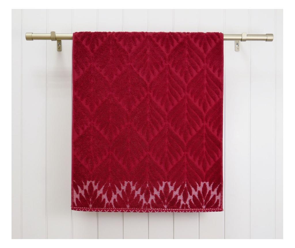 Ręcznik kąpielowy Flora Red 48x90 cm