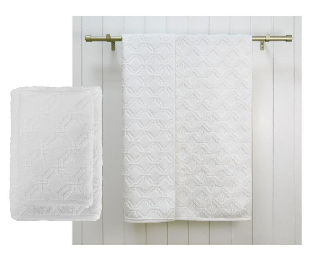 Prosop de baie Lattice White 48x80 cm