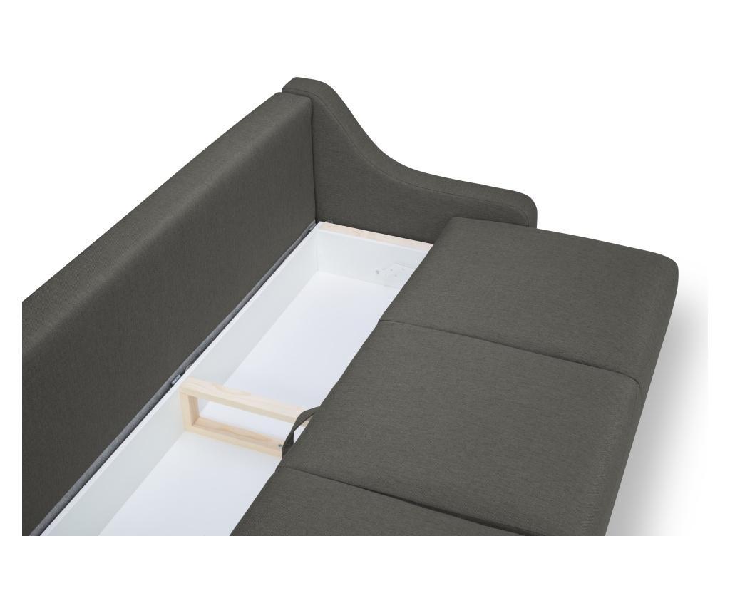 Rozkładana kanapa 3-osobowa Freesia Grey