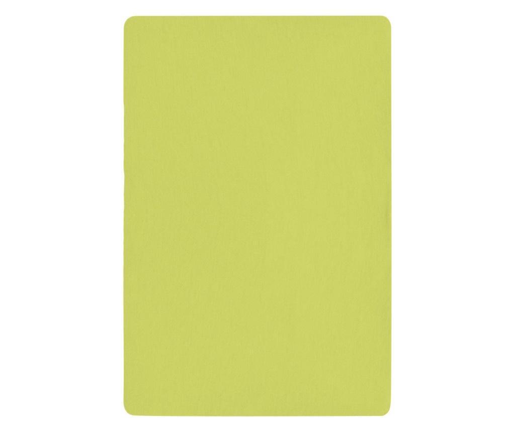 Plachta s gumičkou na postieľku Basic Green 60x120 cm
