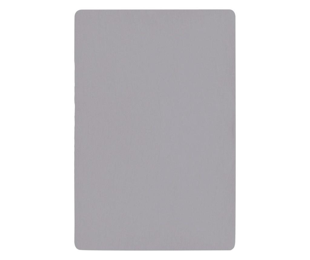 Cearsaf de pat cu elastic Basic Grey 140x200 cm