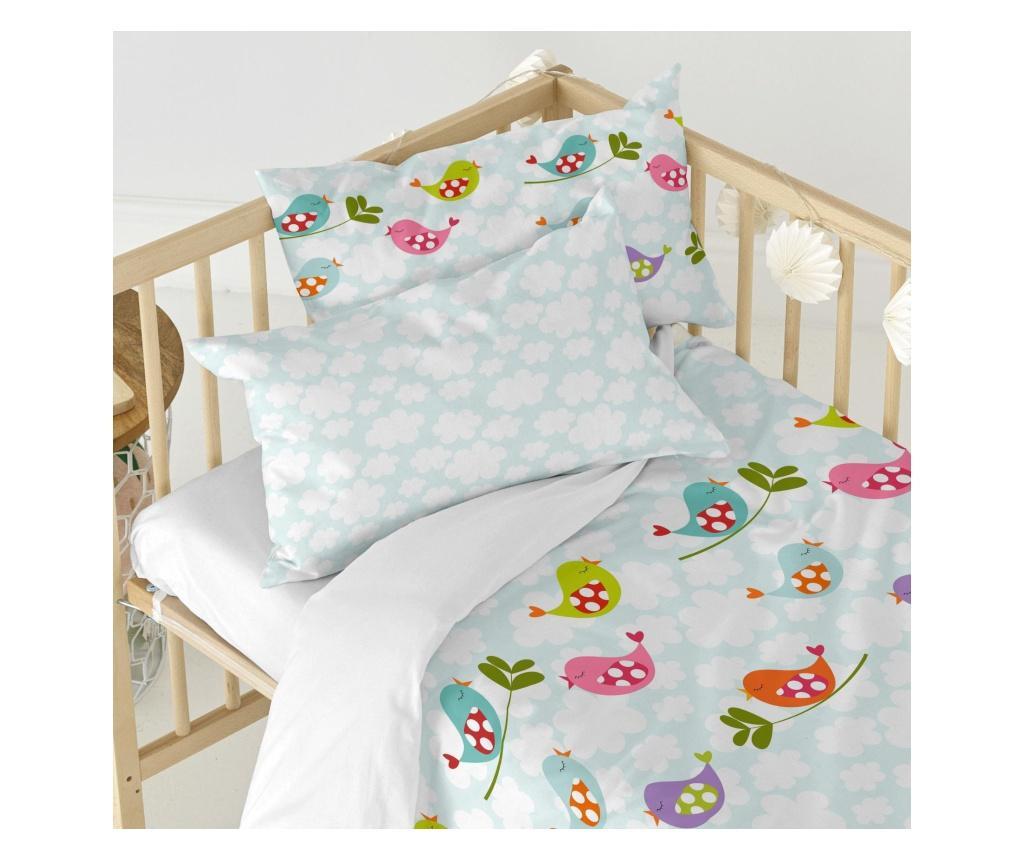 Posteljina za krevetić Little Birds Uni