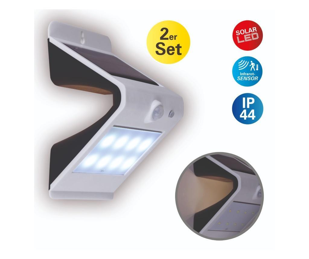 Комплект 2 соларни лампи за екстериор
