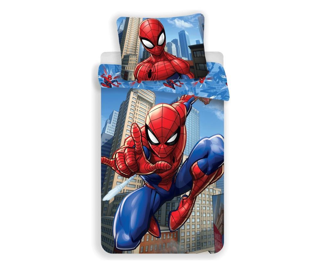 Set de pat Single Ranforce Spiderman Blue
